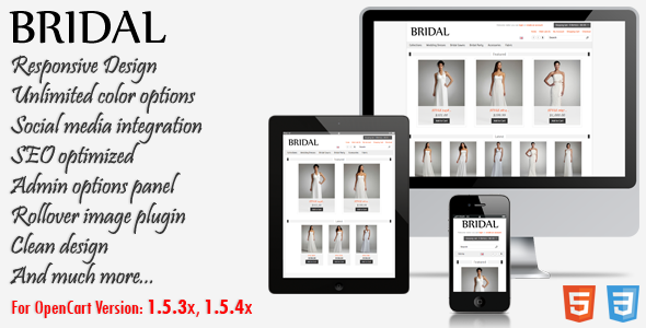 Bridal - Responsive OpenCart Theme Fashion