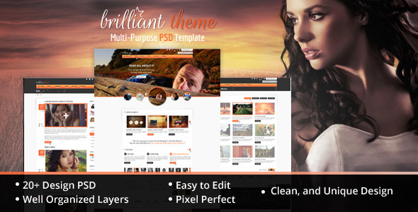 Brilliant Theme Creative Unique PSD Theme Creative