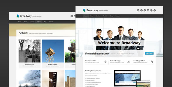 Broadway - Modern Business HTML Template Corporate