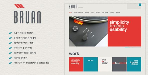 Bruan - Premium WordPress Theme Creative