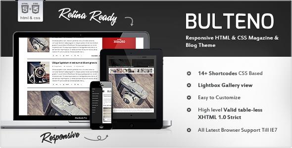 Bulteno - Responsive News/Magazine HTML Template Technology