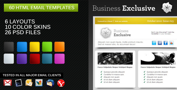 Business Exclusive Email Newsletter EmailTemplates Email Template