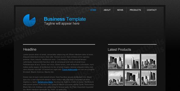 Business Template | Dark & Clean