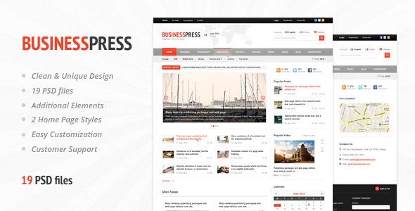 Business News - Premium Magazine PSD Template Corporate