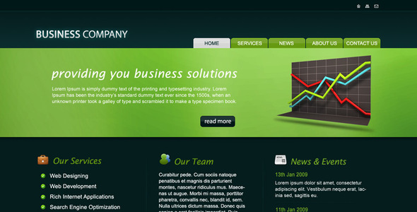Business Company PSD Template