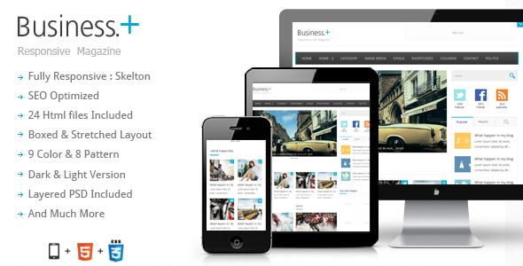 Business : Magazine / Blog Theme Template Creative
