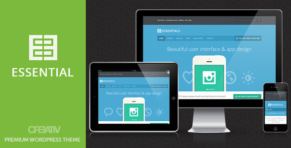 Business Essentials Premium Wordpress Theme Corporate