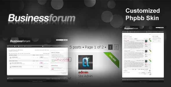 BusinessForum phpbb Skin Forums PhpBB