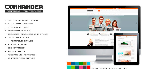 COMMANDER - Responsive HTML Template Corporate