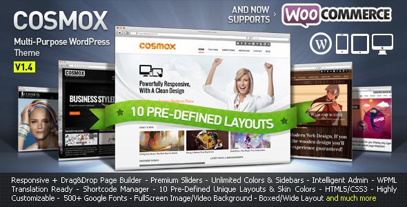 COSMOX - Multipurpose WordPress Theme Corporate