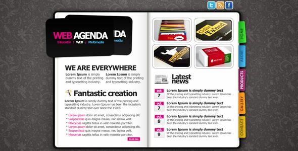 CREATIVE WEB AGENDA Creative PSDTemplates