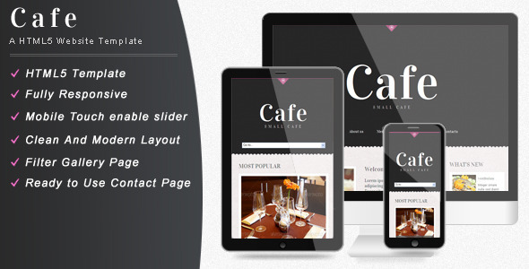 Cafe - Responsive Restaurant Website Template Entertainment