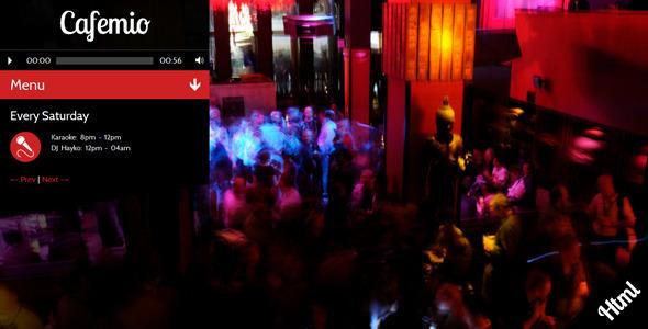 Cafemio- Club, Bar, Cafe, Restaurant HTML Template Entertainment