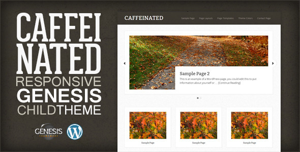 Caffeinated - Genesis Child Theme WordPress Frameworks