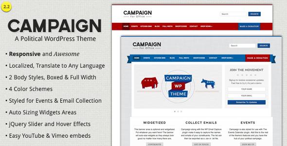 Campaign - Political WordPress Theme Nonprofit