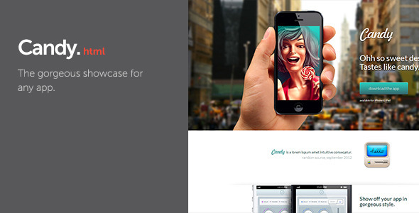 Candy - App Showcase LandingPages Landing Page