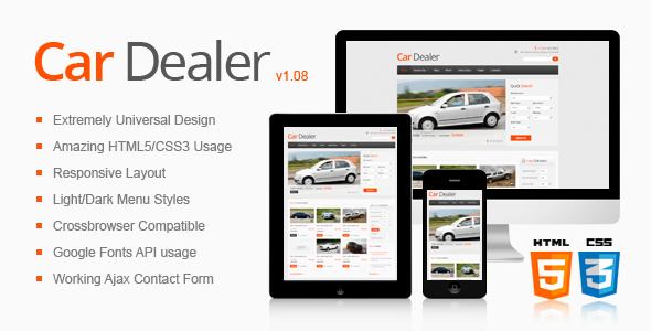 Car Dealer Responsive HTML5/CSS3 Template Corporate