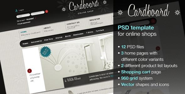 Cardboard Retail PSDTemplates