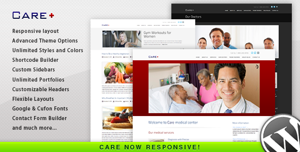 Care - Medical and Health Blogging Wordpress Theme Retail