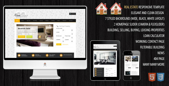 Casa Fresco - A Responsive Real Estate Template Corporate