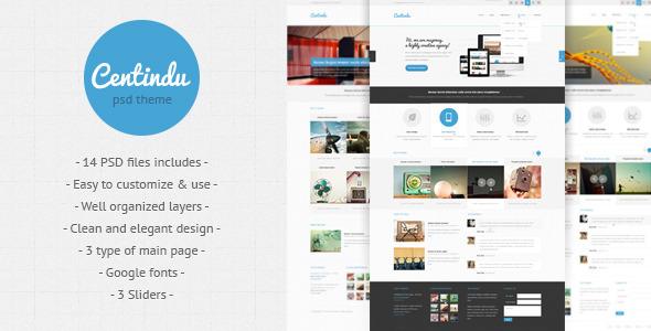 Centindu - clean and modern PSD template Corporate