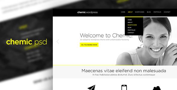 Chemic Multi Purpose PSD Template Corporate