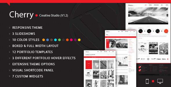 Cherry Portfolio WordPress Theme Creative