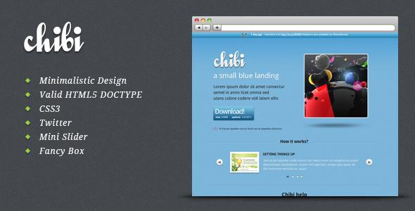 Chibi - a small blue landing page LandingPages Landing Page