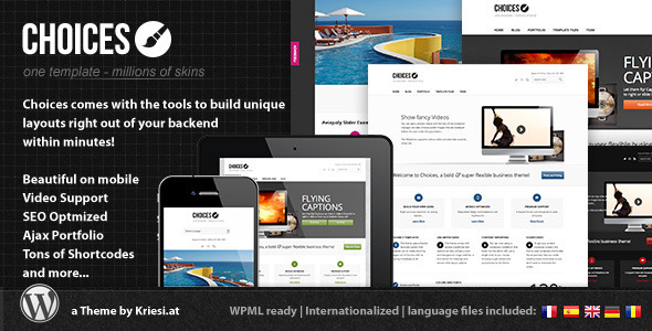 Choices - Responsive Business and Portfolio WordPress Corporate