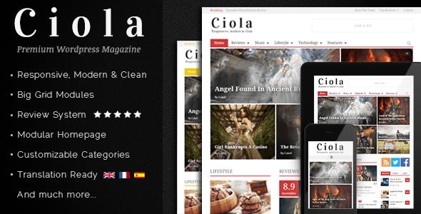 Ciola - Premium Responsive WordPress Magazine Blog/Magazine