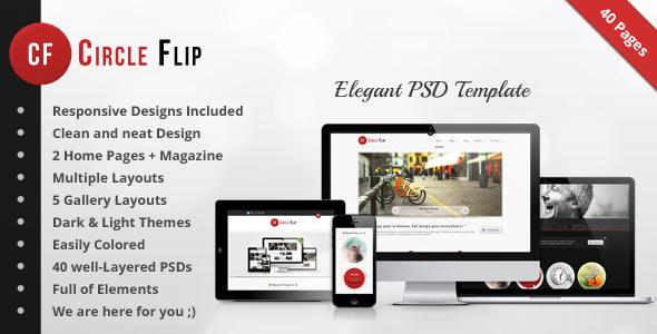 Circle Flip PSD - Multipurpose Responsive Theme Corporate