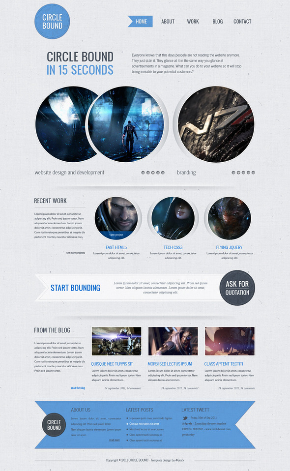 Circle Bound - Business or Personal Portfolio Creative PSDTemplates