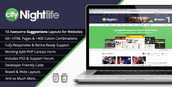 City Nightlife - Responsive Multi-Purpose Theme Template