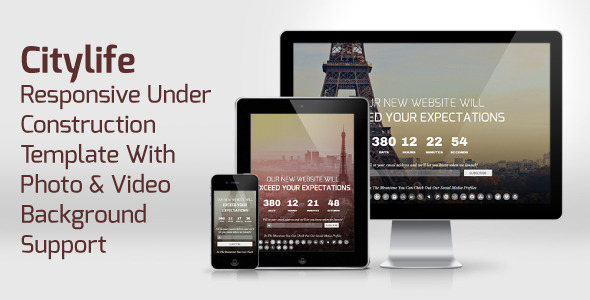 CityLife - Responsive Under Construction Template Specialty Page
