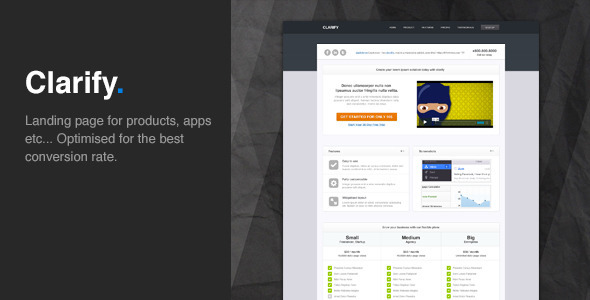 Clarify - Landing page that convert LandingPages Landing Page