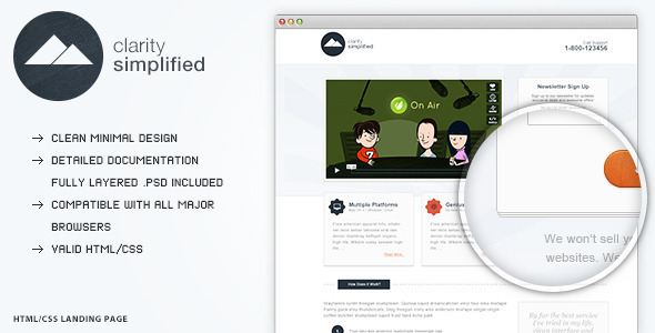 Clarity Simplified - Landing Page LandingPages Landing Page