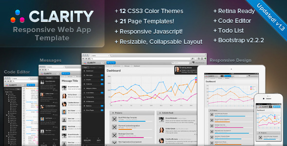 Clarity - Responsive Web App Admin Template AdminTemplates