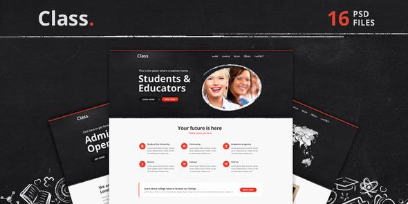 Class | Education PSD Theme Creative