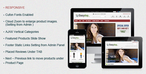 ClassiShop Magento Template Fashion