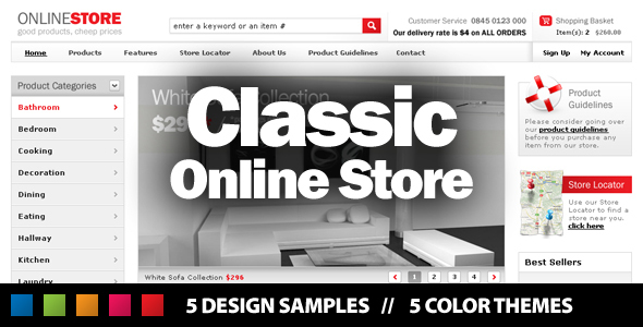 Classic Online Store Retail PSDTemplates
