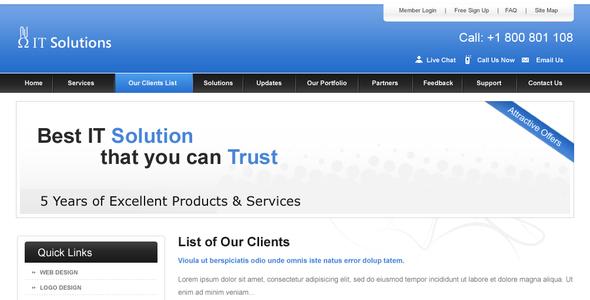 Clean Business Website Corporate PSDTemplates