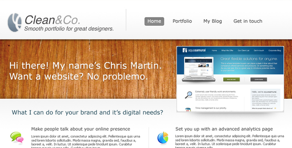Clean & Co Creative PSDTemplates