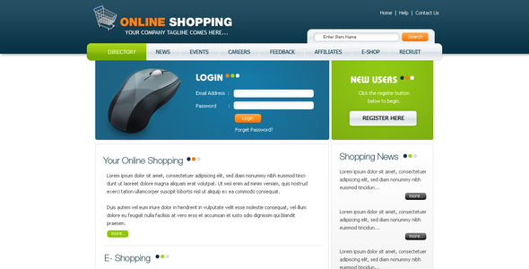 Clean and Modern Online Shopping Template