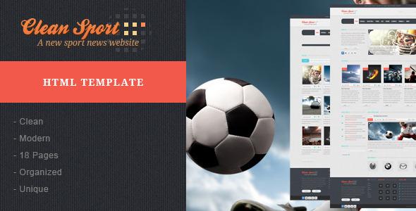 Clean Sport - Sport HTML Template Entertainment
