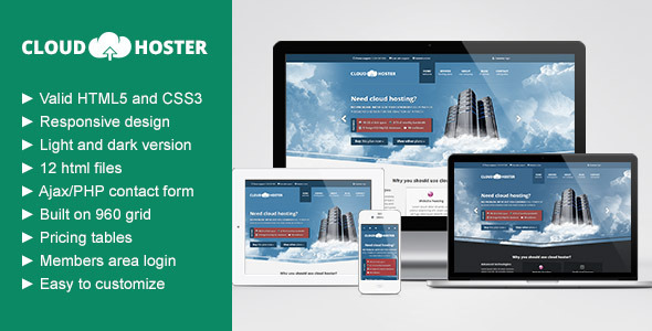 Cloud Hoster - Responsive Hosting Company Theme Template