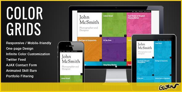 Color Grids - Responsive Creative Portfolio Template Personal