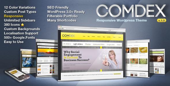 Comdex — Responsive WordPress Theme Corporate