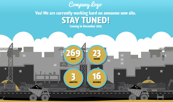 Coming Soon Responsive - Construction Area Template Specialty Page