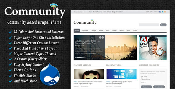 Community Drupal Blog/Magazine