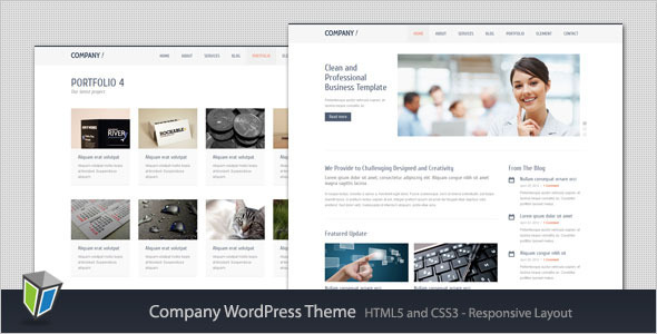 Company - Responsive Corporate WordPress Theme Corporate